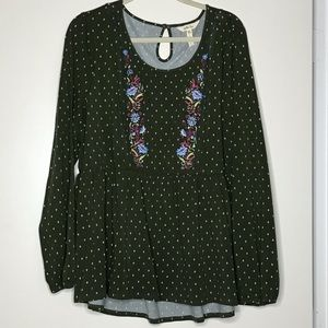 Matilda Jane top with embroidery